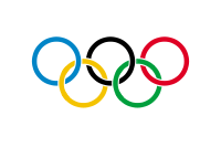 """Olympische Flagge (von <a href=""""http://de.wikipedia.org/w/index.php?title=Datei:Olympic_flag.svg&filetimestamp=20070304013012"""">wikipedia</a>)"""
