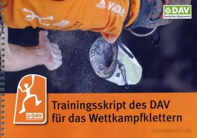 Trainingsskript des DAV für das Wettkampfklettern